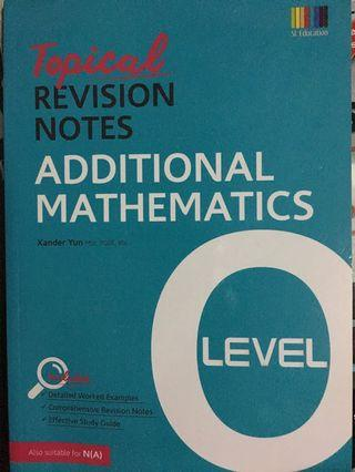 🚚 O Level Topical Revision Notes for A Maths