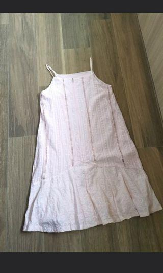 Sz s Intoxiquette crochet lace summer pink dress