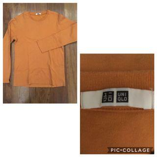 Uniqlo orange pullover
