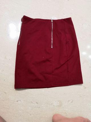 Love Bonito Red Skirt
