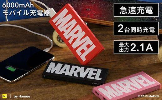 正版 Marvel 復仇者聯盟 Logo 方形6000mah充電池