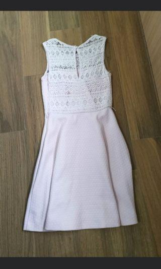 Au6 forever new Lace crochet summer pink Dress