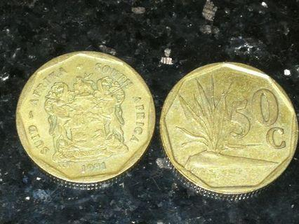 50 cents south africa