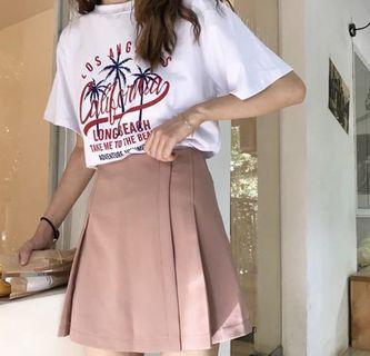 粉紅色半身裙