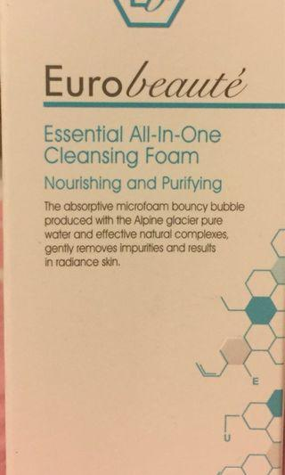 Eurobeaute Essential All-in-one Cleaning foam 150ml 全新未開封