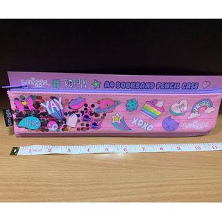 Poppin' A4 Book Band Pencil Case (Pink) (Smiggle) (Brand New)