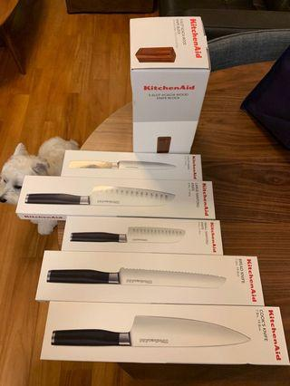 Knife Set with Wood Block