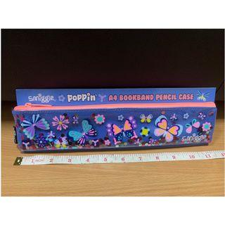 Poppin' A4 Book Band Pencil Case (Blue) (Smiggle) (Brand New)