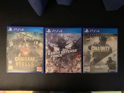 PS4 Earth Defences Force Gundam Versus Call of duty