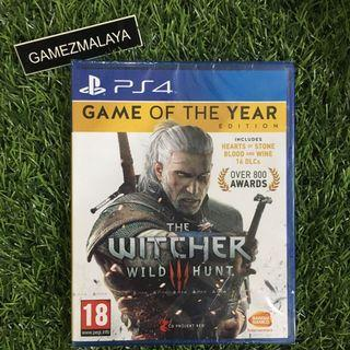 [NEW] PS4 THE WITCHER WILD HUNT 3 GAME OF THE YEAR R1 - ACCEPT TRADE-IN   NEW PS4 GAMES (GAMEZMALAYA)