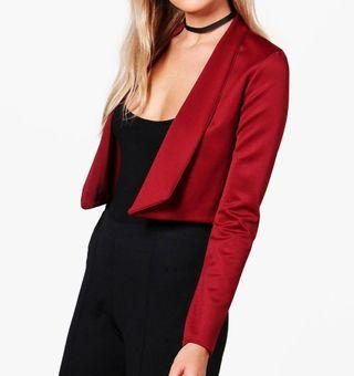 Cropped Wine Red Blazer