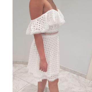 The Fated white broderie frill dress NWT