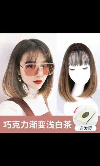 (NO INSTOCKS!)Preorder korean collarbone natural full length air bangs straight wig*waiting time 15 days after payment is made*chat to buy to order