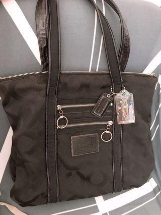 Original Coach black nylon Handbag