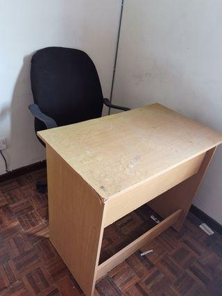 Study table and adjusted arm chair - 1 set