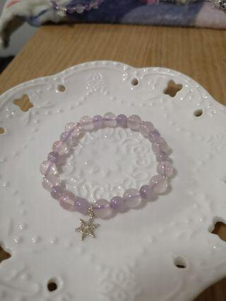紫晶+粉晶手鏈