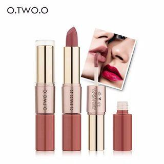 O.TWO.O 2IN1 MATTE LIPSTICK & LIQUID LIPSTICK