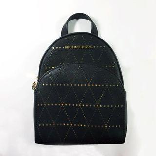 Michael Kors Black Abbey XS Mini Leather Backpack Purse Extra Small Authentic