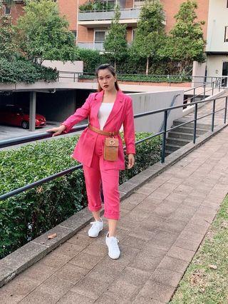 Rose coat and pants