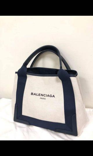 BALENCIAGA藍色皮革手提包S號