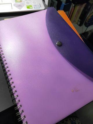 purple b5 grid notebook