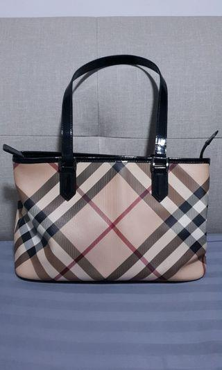 Burberry Nova Check Tote Bag Medium