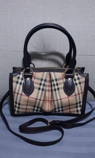 Burberry Haymarket Classic Pilgrim Shoulder Bag