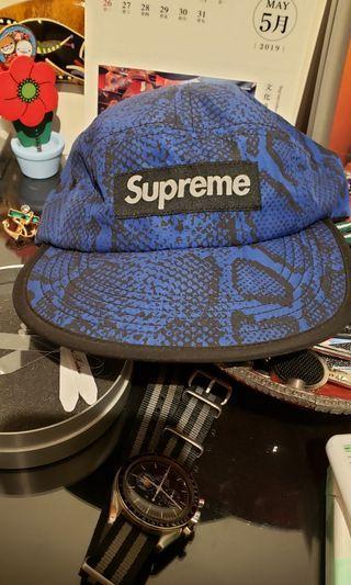 Supreme camp cap camo blue