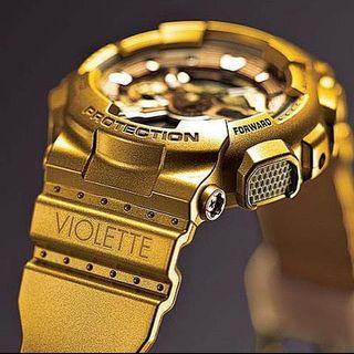 LIMITED EDITION G-Shock Violette in GOLD