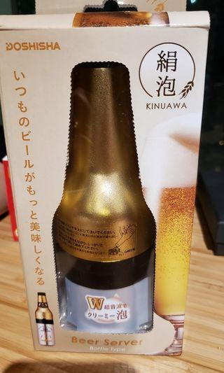 啤酒 泡 制造器 絹泡 beer foam server doshisha kinuawa