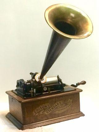 百年古董 美國原裝愛迪生留聲機