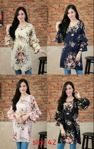 [NEW] 5 Design Terbaru Blouse Printed Floral