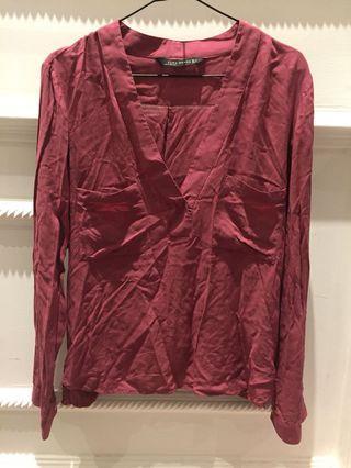 Zara cross back blouse