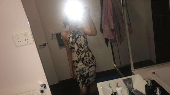 Kendall + Kylie marble dress