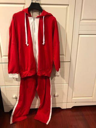 [代網拍成癮的友出售]韓貨正紅色運動套裝
