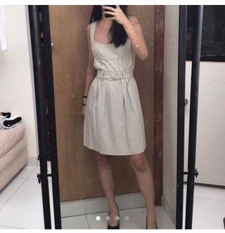 Witchery beige midi dress