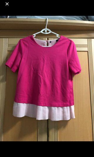 Pink top with back ribbon