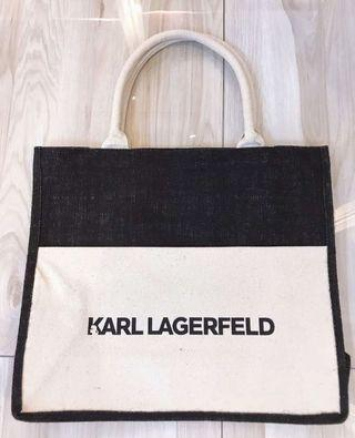(Authentic) Karl Lagerfeld Canvas Tote Bag