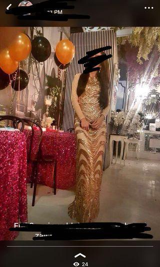 Zalia gold sequin