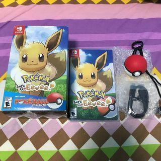 Pokemon Let's Go Eevee + Pokeball Plus (NO MEW)