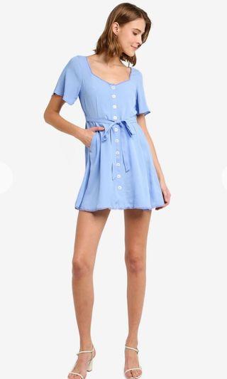 Miss selfridge petite front button dress