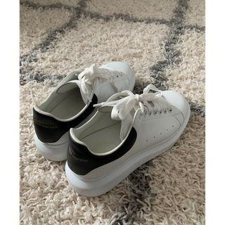 Alexander McQueen White & Black Oversized Sneakers (Size 41)