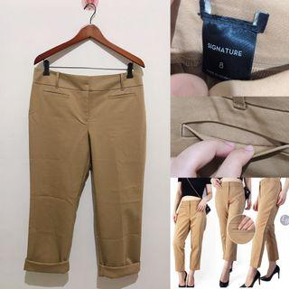 Antaylor Latte Brown Straight Cut Trousers
