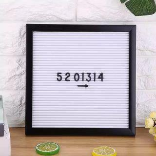 Letterboard 30x30 - Putih Frame Hitam #mauthr