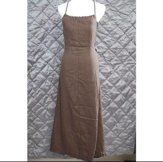 🚚 正韓🇰🇷棉質美背綁帶性感渡假洋裝