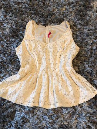 Top. Lace. Medium but will fit small as well