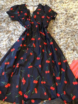 Cherry 🍒 dress.  Worn once. Small