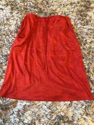 Holt Renfrew skirt. Real sued. Size 4. 9\19 condition