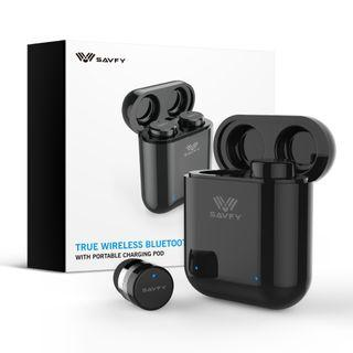 SAVFY® True Wireless Bluetooth 5.0 In-Ear Earbuds With Portable Charging Case