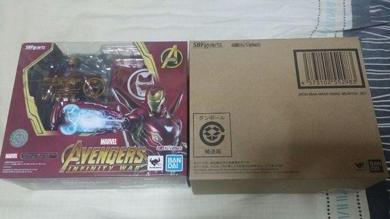 Marvel shf iron man mark 50 nano weapon set